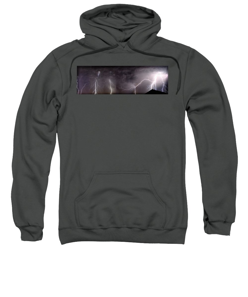 Lightning Sweatshirt featuring the photograph Lightning Over Perris by Anthony Jones