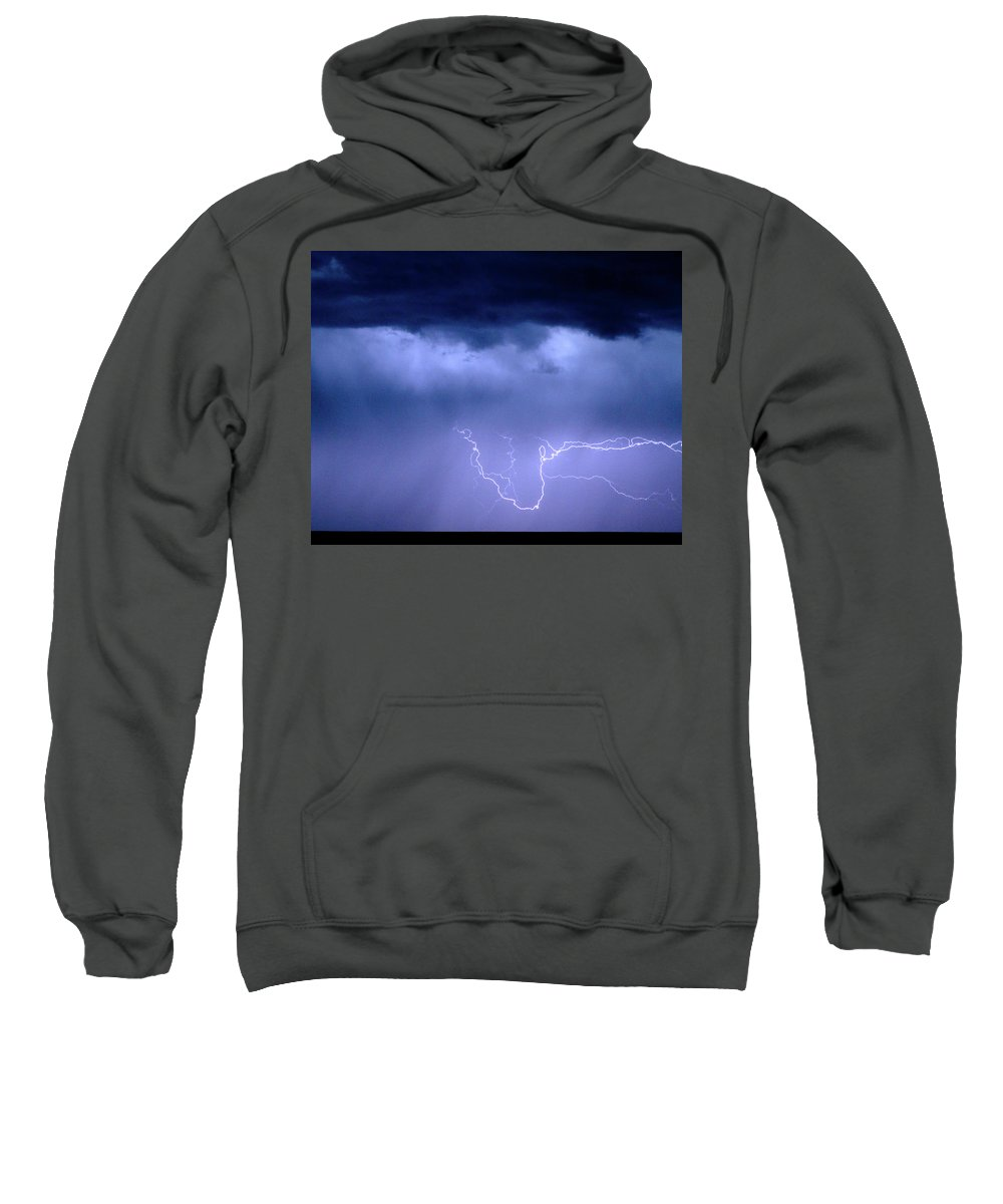 Restaurant Art Sweatshirt featuring the photograph Lightning Rodeo by James BO Insogna