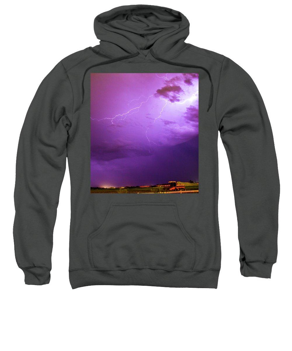 Nebraskasc Sweatshirt featuring the photograph Lightning Totalitty 003 by NebraskaSC