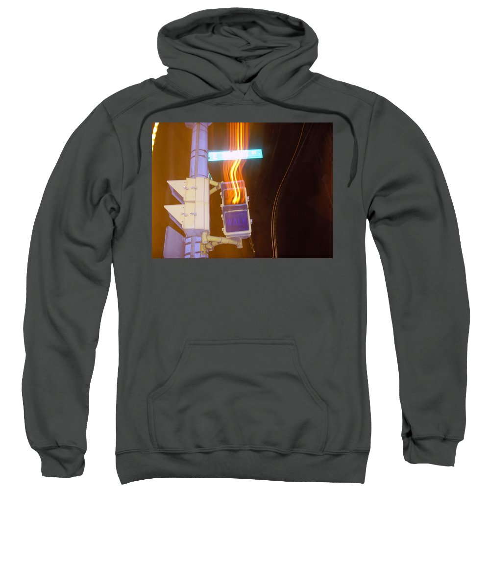 Photograph Sweatshirt featuring the photograph Lights That Eat Do Not Walk Signals by Thomas Valentine