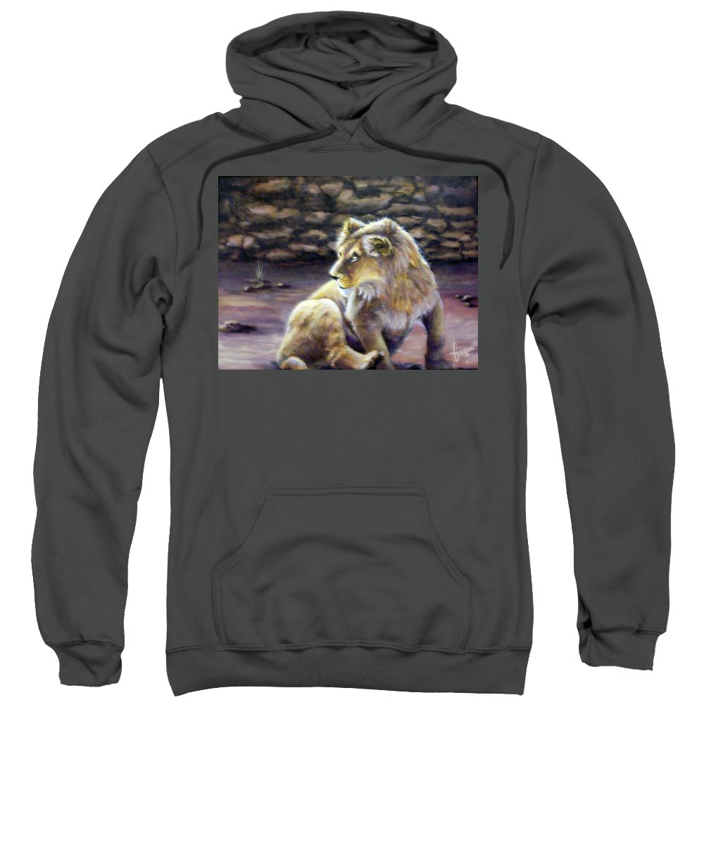 Fuqua - Artwork. Wildlife Sweatshirt featuring the painting Like Son by Beverly Fuqua