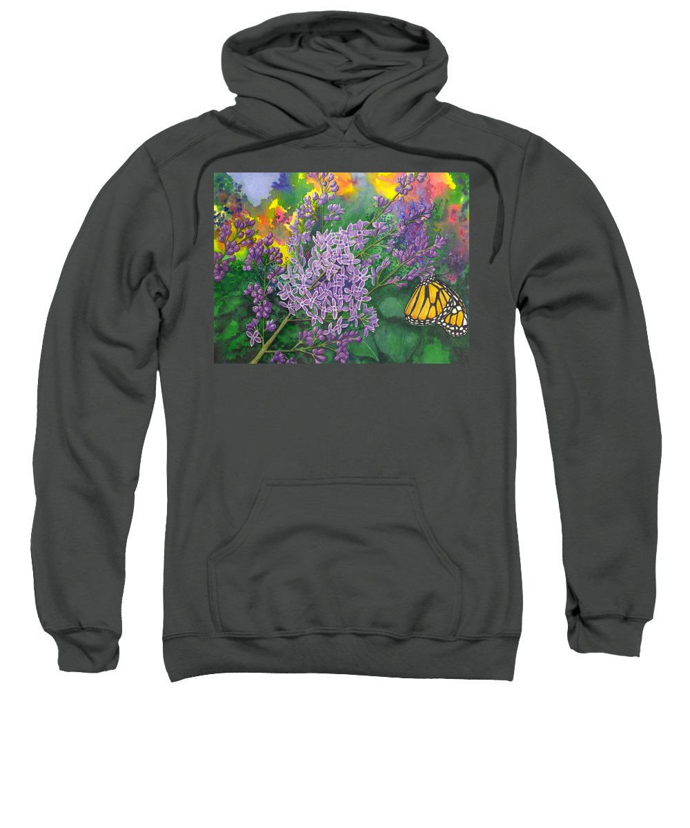 Lilac Sweatshirt featuring the painting Lilac by Catherine G McElroy