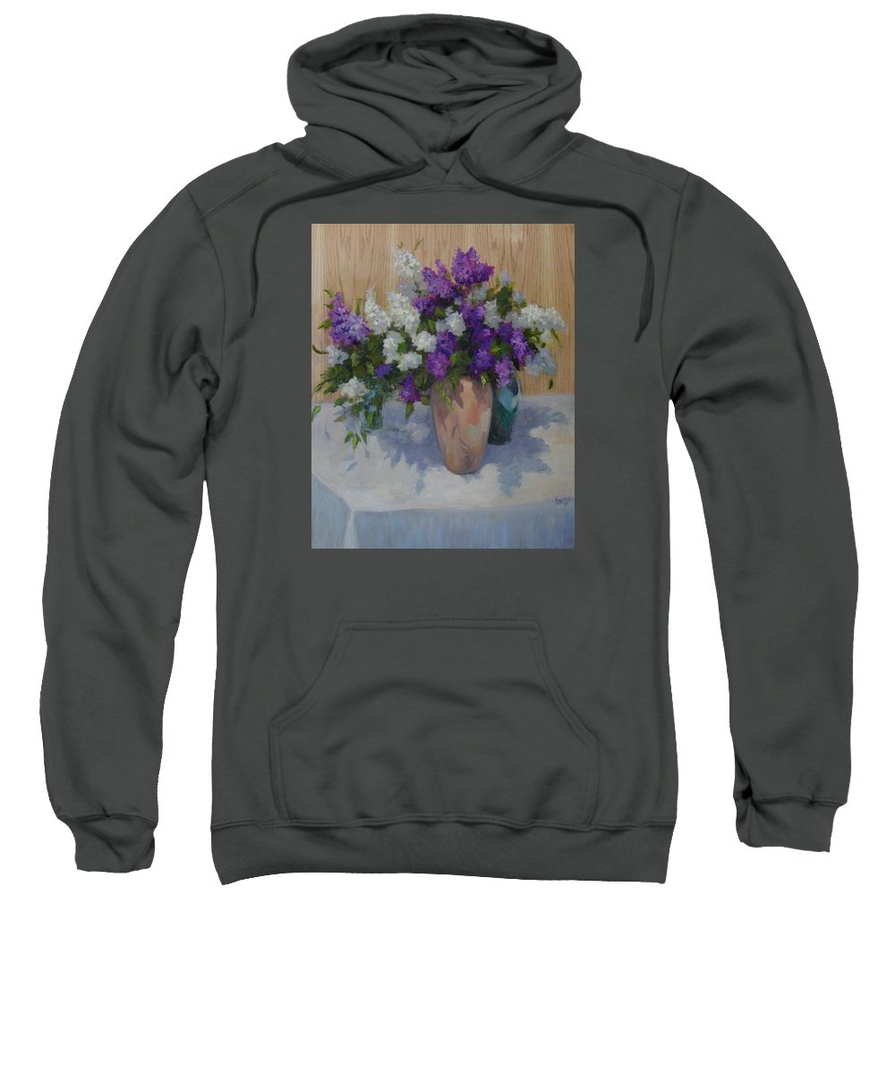 Lilacs Sweatshirt featuring the painting Lilacs by Patricia Kness