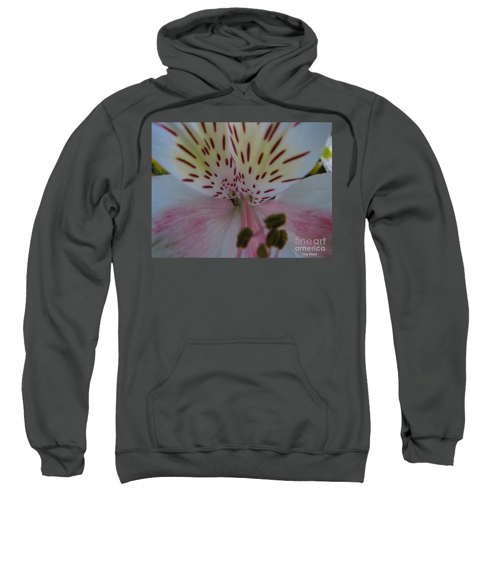 Patzer Sweatshirt featuring the photograph Lily by Greg Patzer