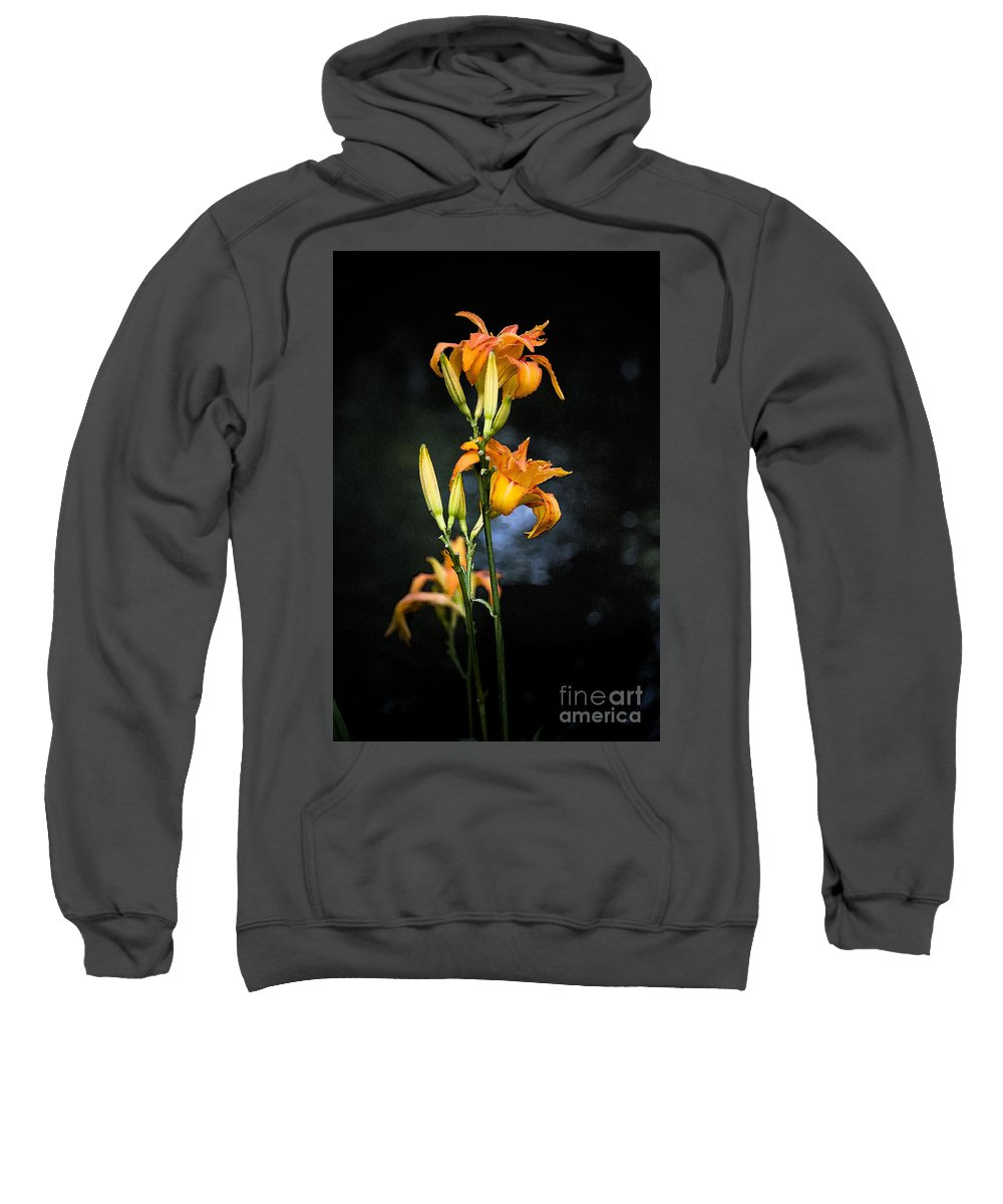 Lily Monet Garden Flora Sweatshirt featuring the photograph Lily In Monets Garden by Sheila Smart Fine Art Photography