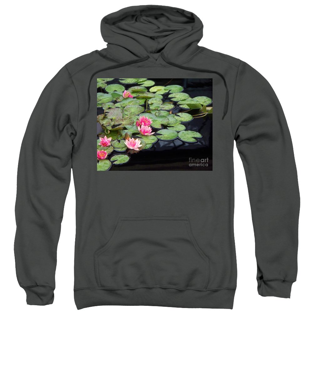 Photograph Sweatshirt featuring the painting Lily Pond Monet by Eric Schiabor
