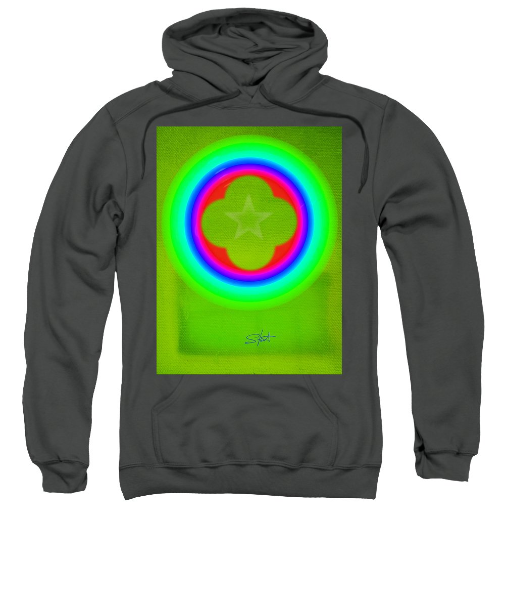 Abstract Sweatshirt featuring the painting Lime by Charles Stuart