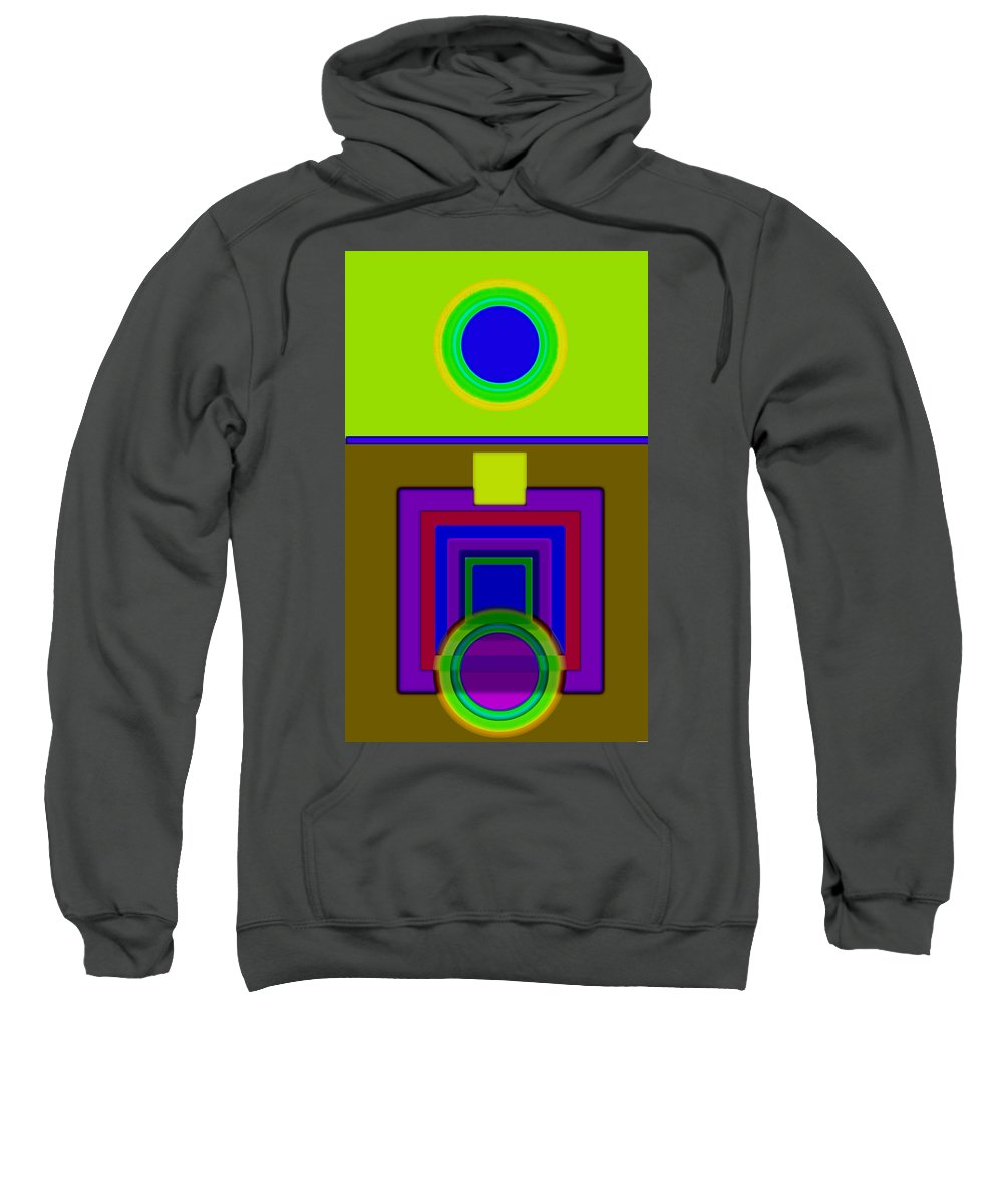Classical Sweatshirt featuring the painting Lime Driver by Charles Stuart