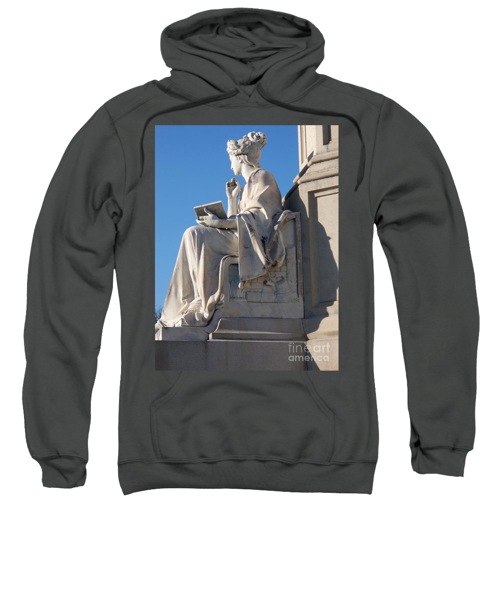 Lincoln Sweatshirt featuring the painting lincoln statue Gettysburg PA by Eric Schiabor