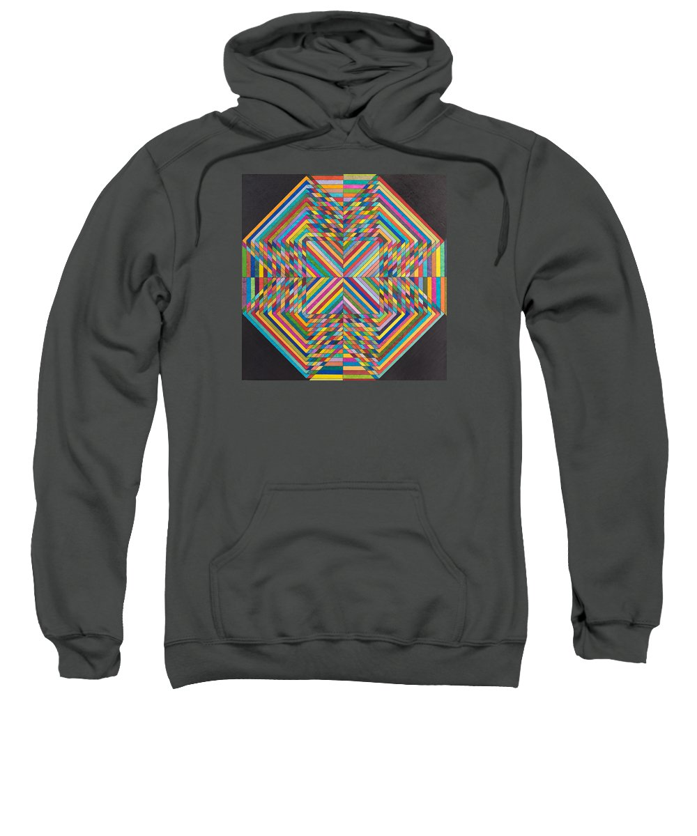 Synesthetic Painting Made Based On Studies Of Supersymmetry In Quantum Physics Sweatshirt featuring the painting Linear Supersymmetry by George Sanen