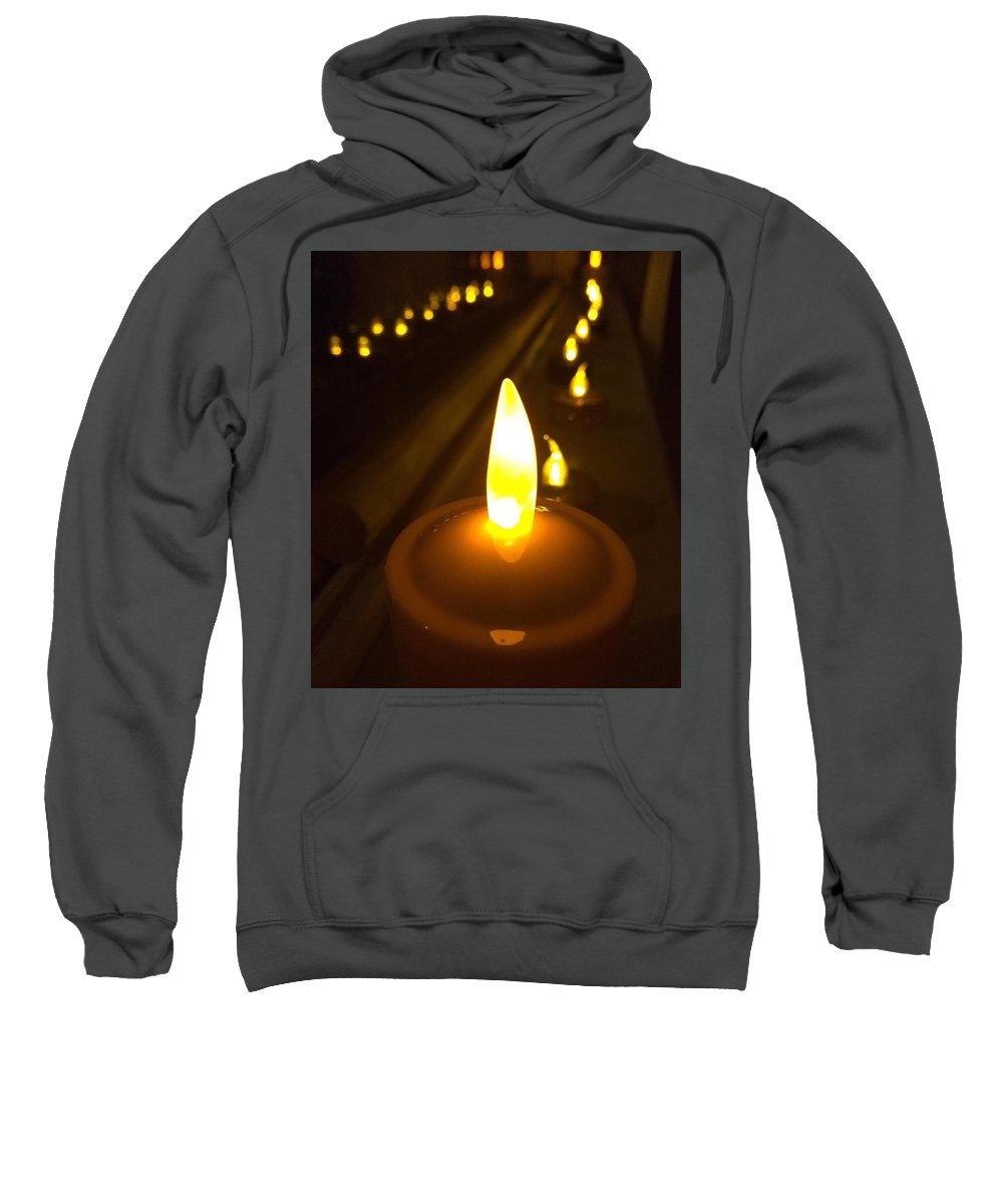 Lights Sweatshirt featuring the photograph Lined Lights by Savanah Schafer