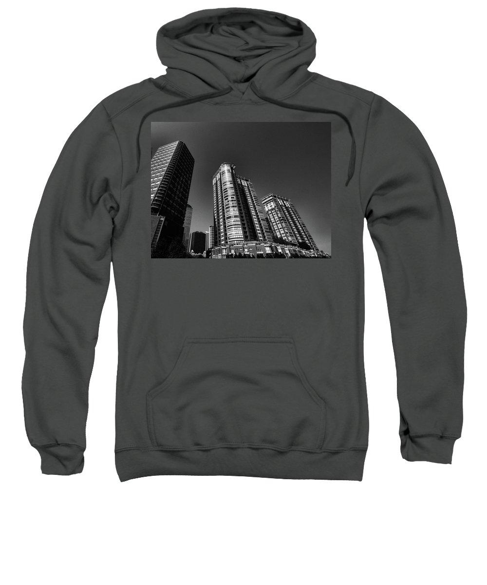 Chicago Skyline Sweatshirt featuring the photograph Linez N Rhymez by Robert McCubbin