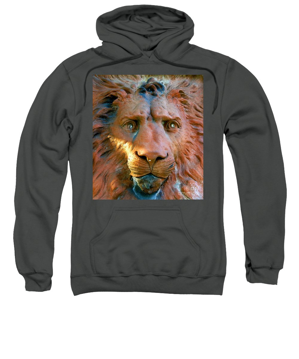 Saint Augustine Florida Sweatshirt featuring the photograph Lion Of Saint Augustine by David Lee Thompson