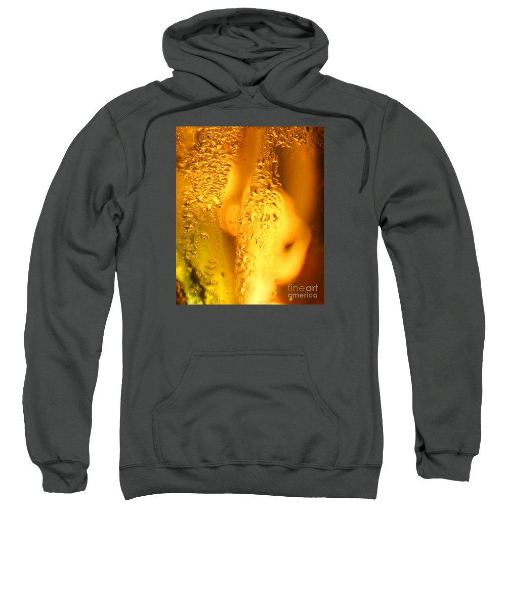Amber Sweatshirt featuring the photograph Liquid Gold by Jane McGowan