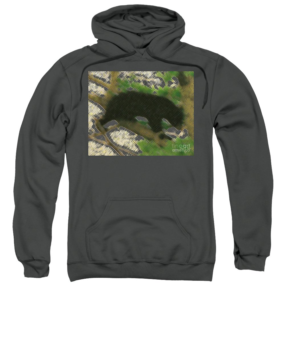 Animal Sweatshirt featuring the photograph Little Bear by Donna Brown