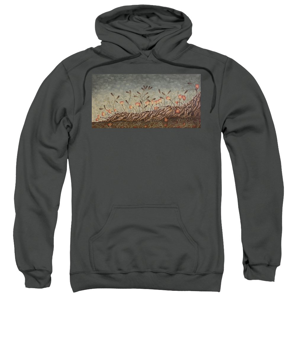 Sex Sweatshirt featuring the painting Little Gods by Judy Henninger