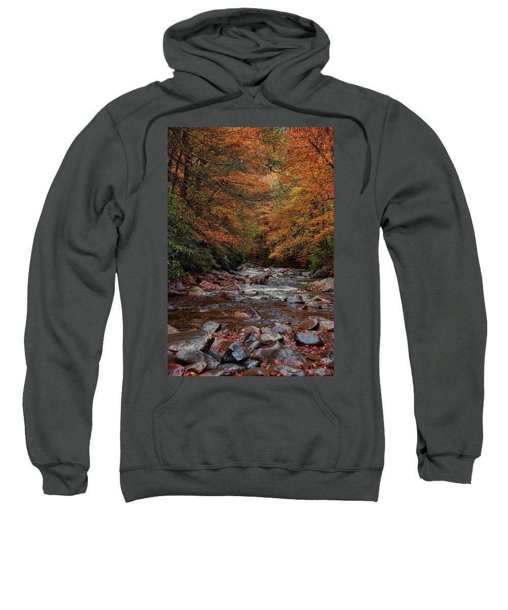 Smoky Mountains Sweatshirt featuring the photograph Little Pigeon River In Autumn by Randy Ball