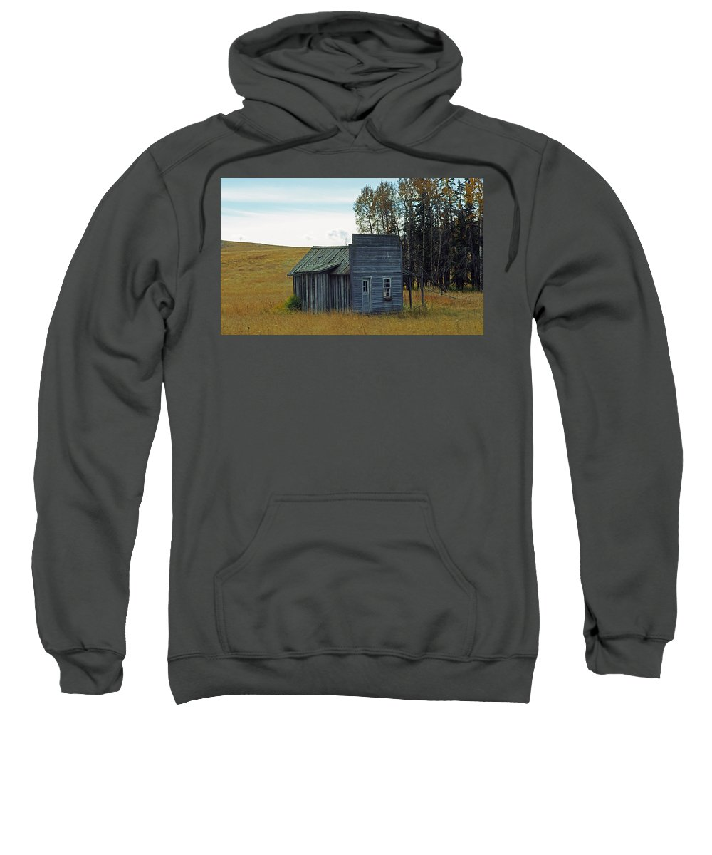 Old Barn Sweatshirt featuring the photograph Little Rustic Shack by Randy Harris