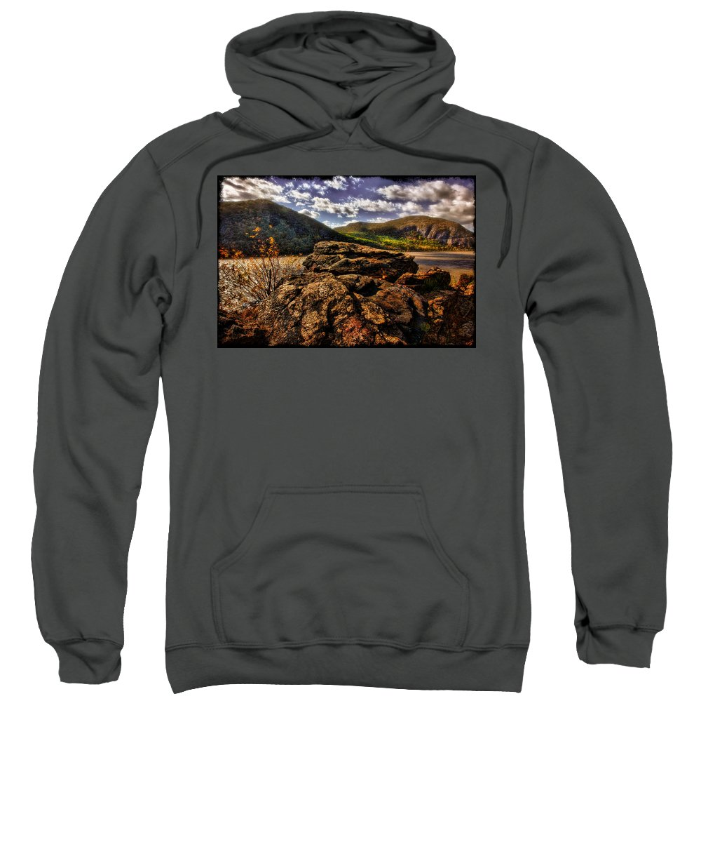 Rocks Sweatshirt featuring the photograph Little Stoney Point by Chris Lord