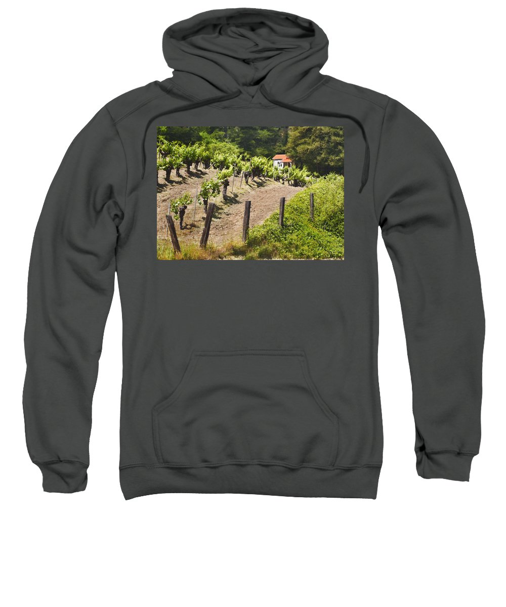 Vineyard Sweatshirt featuring the photograph Little White House by Sharon Foster