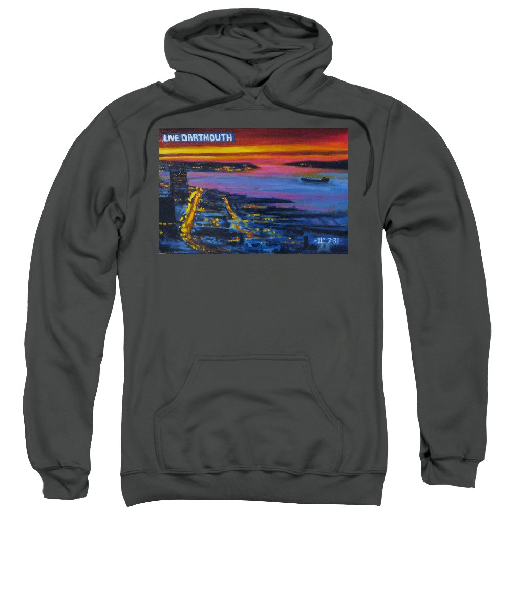Night Scenes Sweatshirt featuring the painting Live Eye Over Dartmouth Ns by John Malone