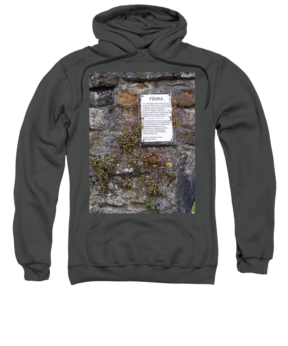 Irish Sweatshirt featuring the photograph Living Wall At Donegal Castle Ireland by Teresa Mucha