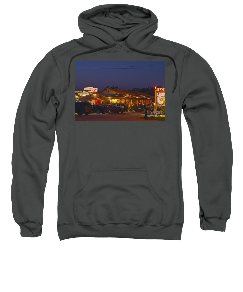 Cape Cod Sweatshirt featuring the photograph Lobster Pound. by John Greim