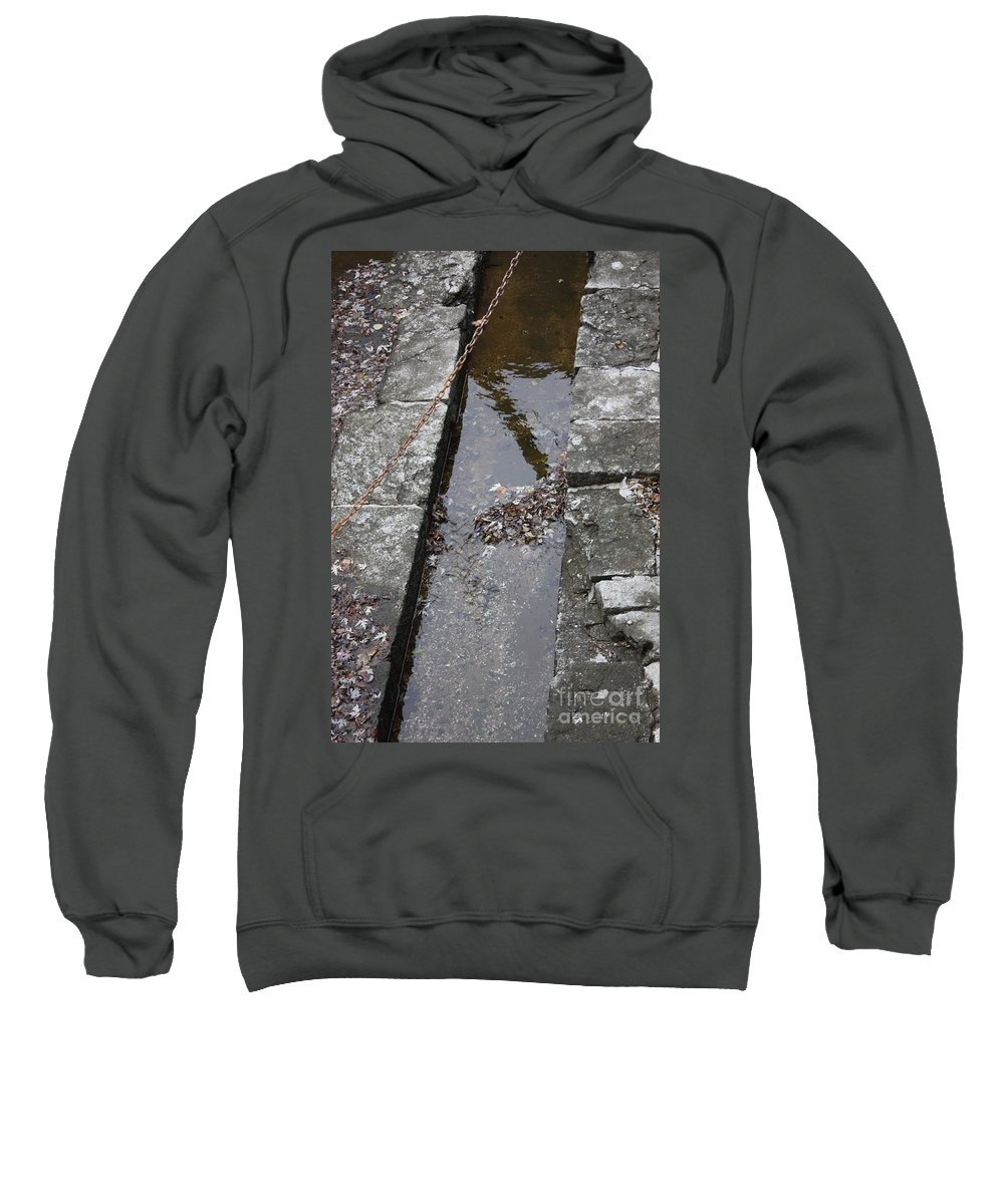 Grey Sweatshirt featuring the photograph The Key Part Of The Lock by Gordon J Weber