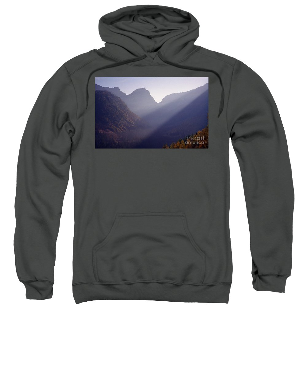 Mountains Sweatshirt featuring the photograph Logan Pass by Richard Rizzo