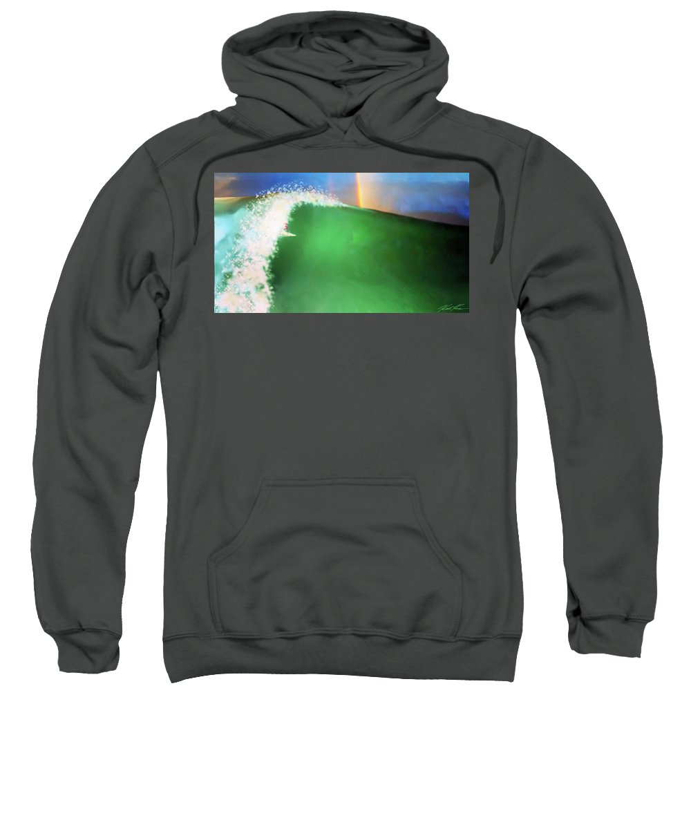 Surf Sweatshirt featuring the digital art Lolipops And Gumdrops by Keith Kos