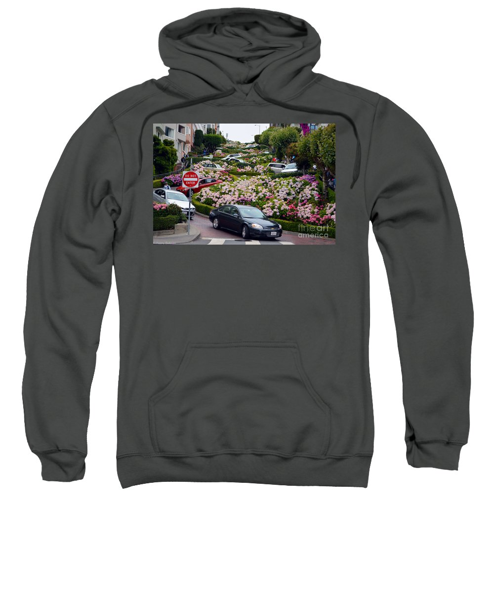Lombard Street Sweatshirt featuring the photograph Lombard Street by Tommy Anderson