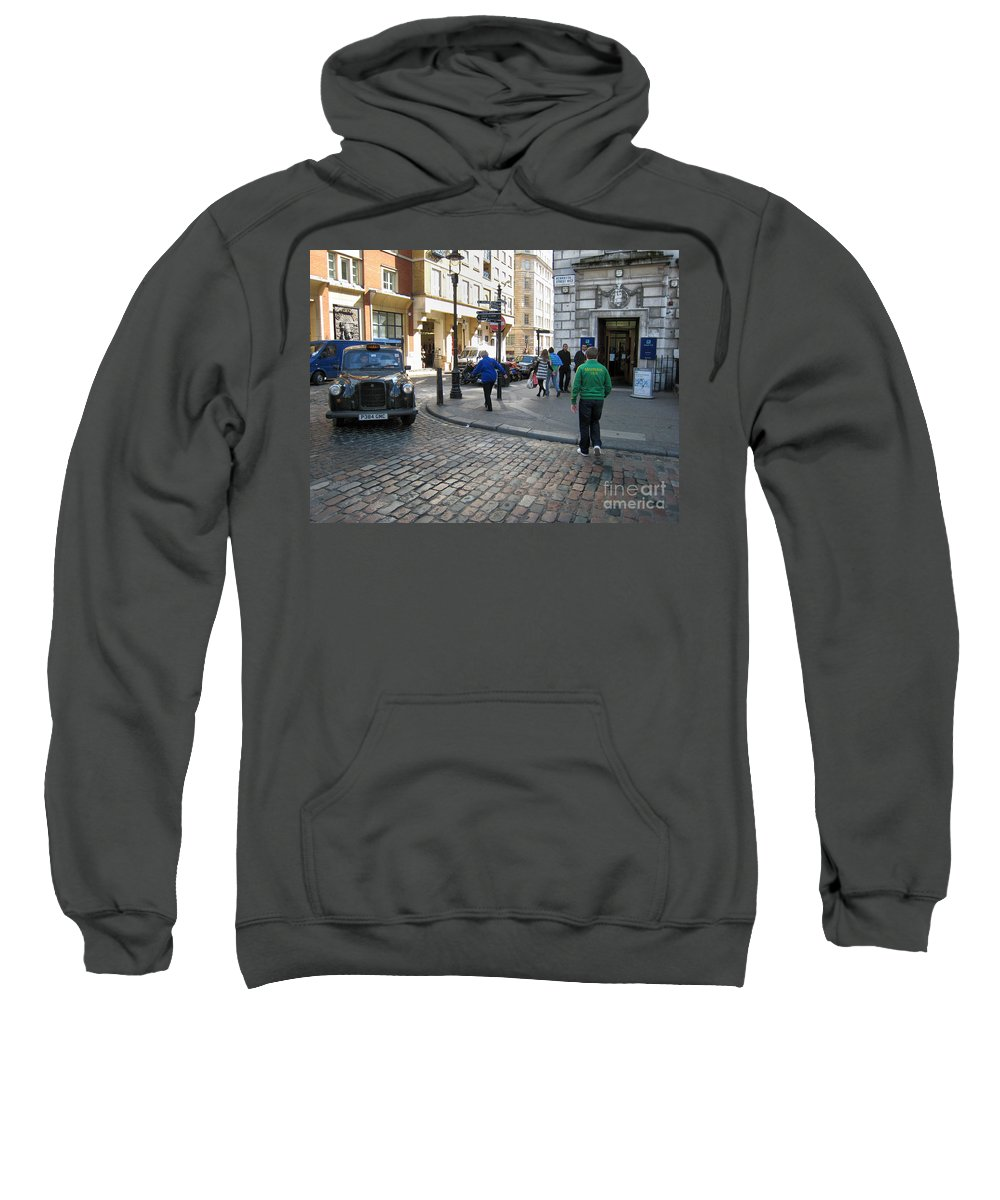 London Sweatshirt featuring the photograph London Street by Madeline Ellis