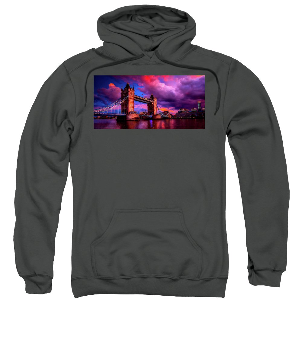Tower Bridge Sweatshirt featuring the photograph London's Tower Bridge by Pixabay