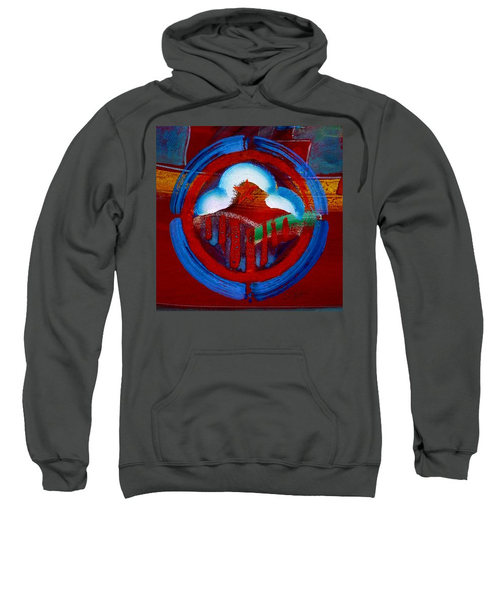 Star Sweatshirt featuring the painting Lone Star State by Charles Stuart