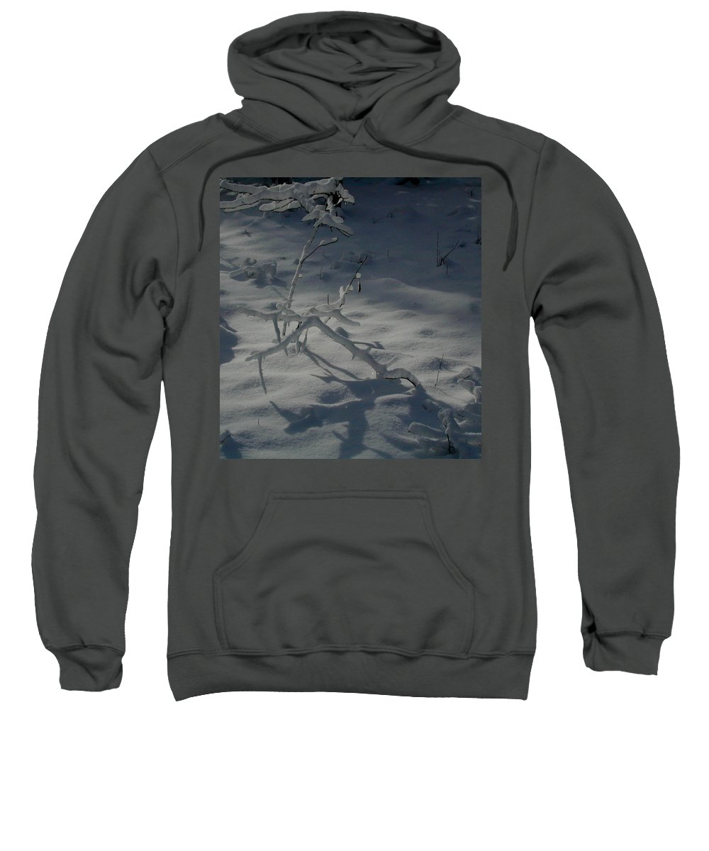 Loneliness Sweatshirt featuring the photograph Loneliness In The Cold by Douglas Barnett