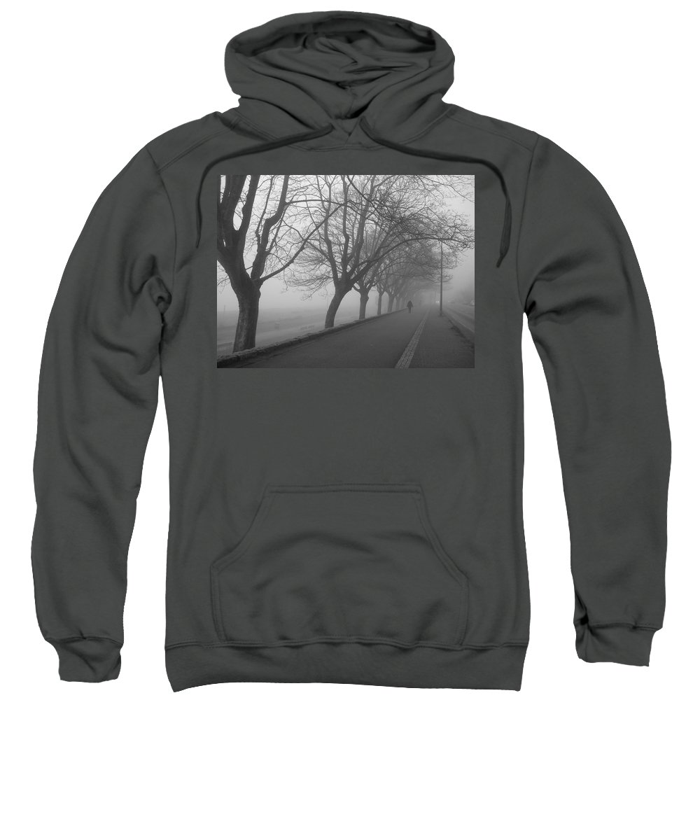 English Bay Sweatshirt featuring the photograph Lonely Road by Sheryl R Smith
