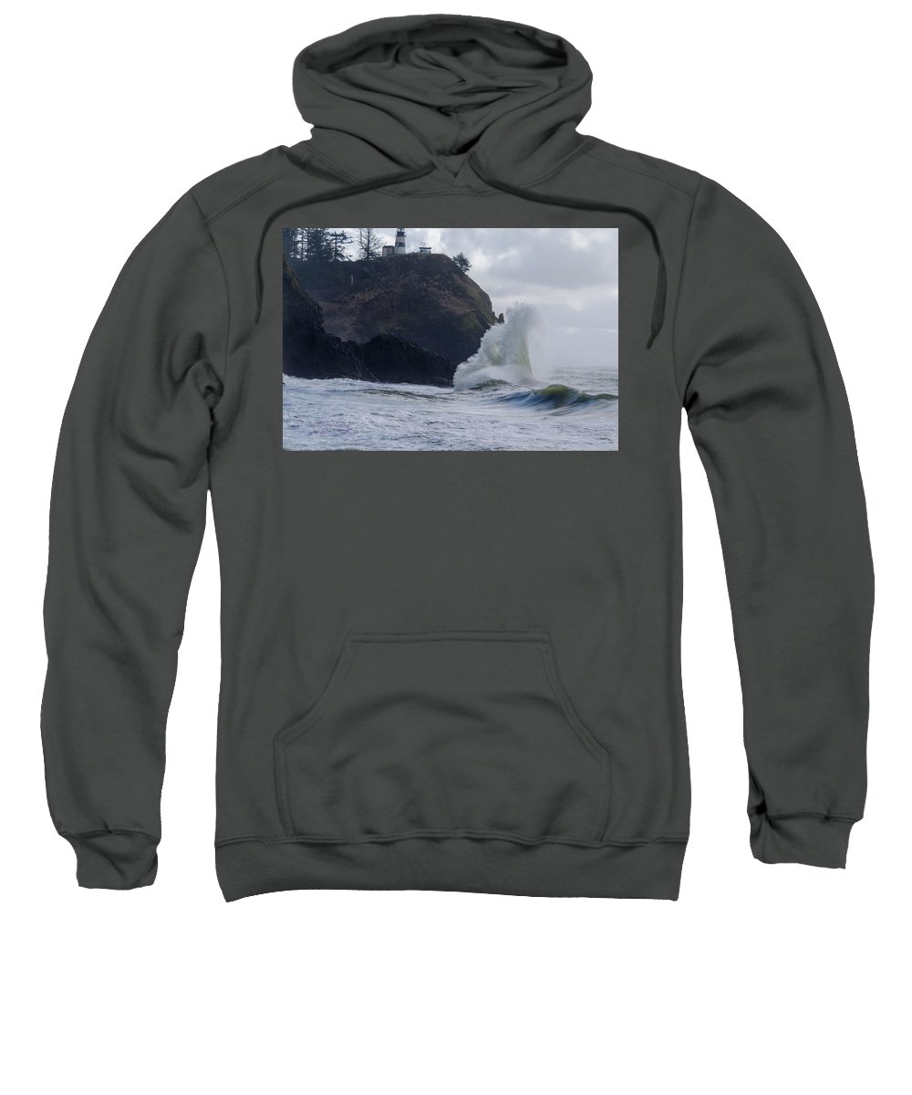 Cape Disappointment Sweatshirt featuring the photograph Long Beach 2018 Dsc_3884 by Safe Haven Photography Northwest