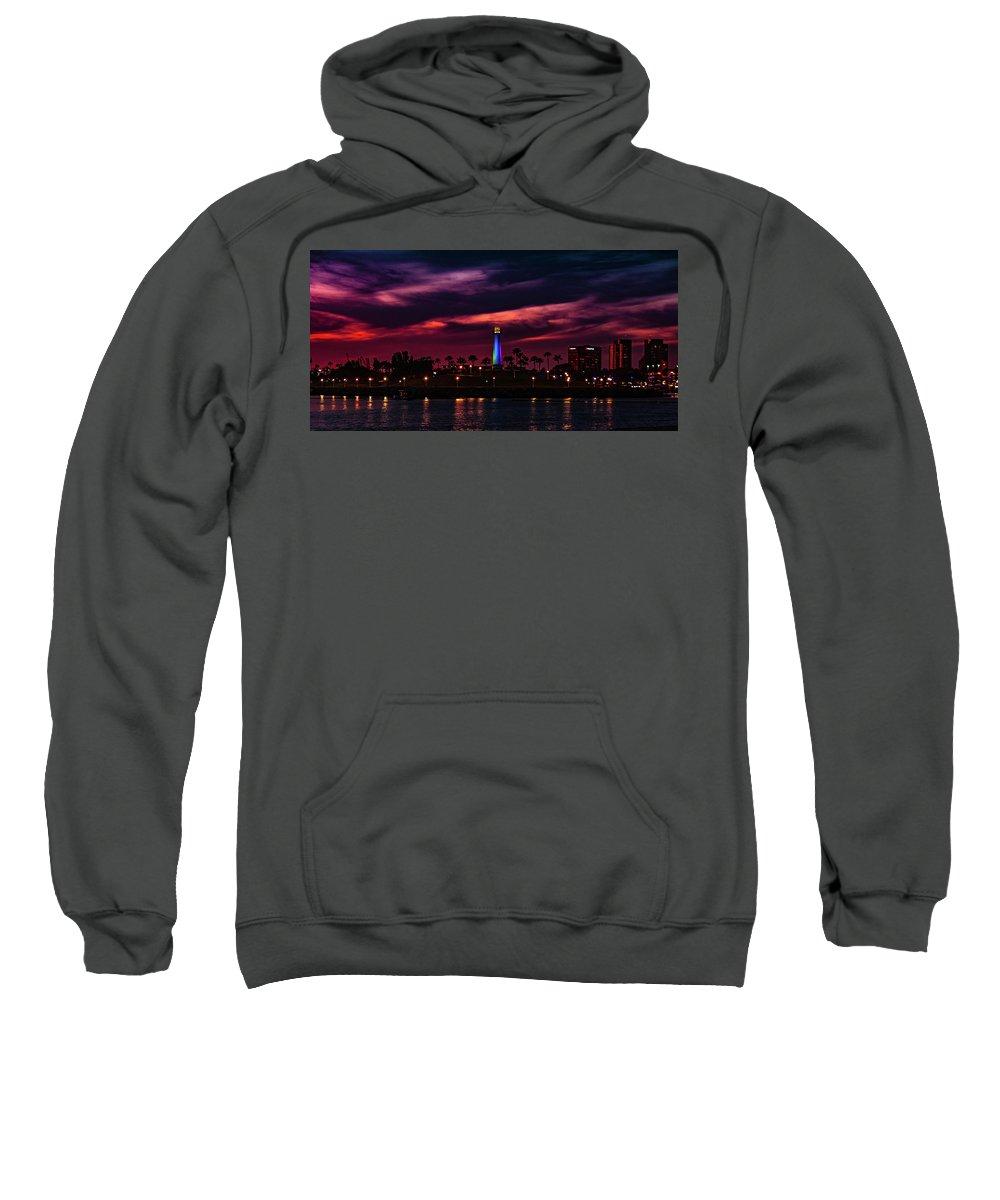 Harbor Sweatshirt featuring the photograph Long Beach Lighthouse II by John R Williams