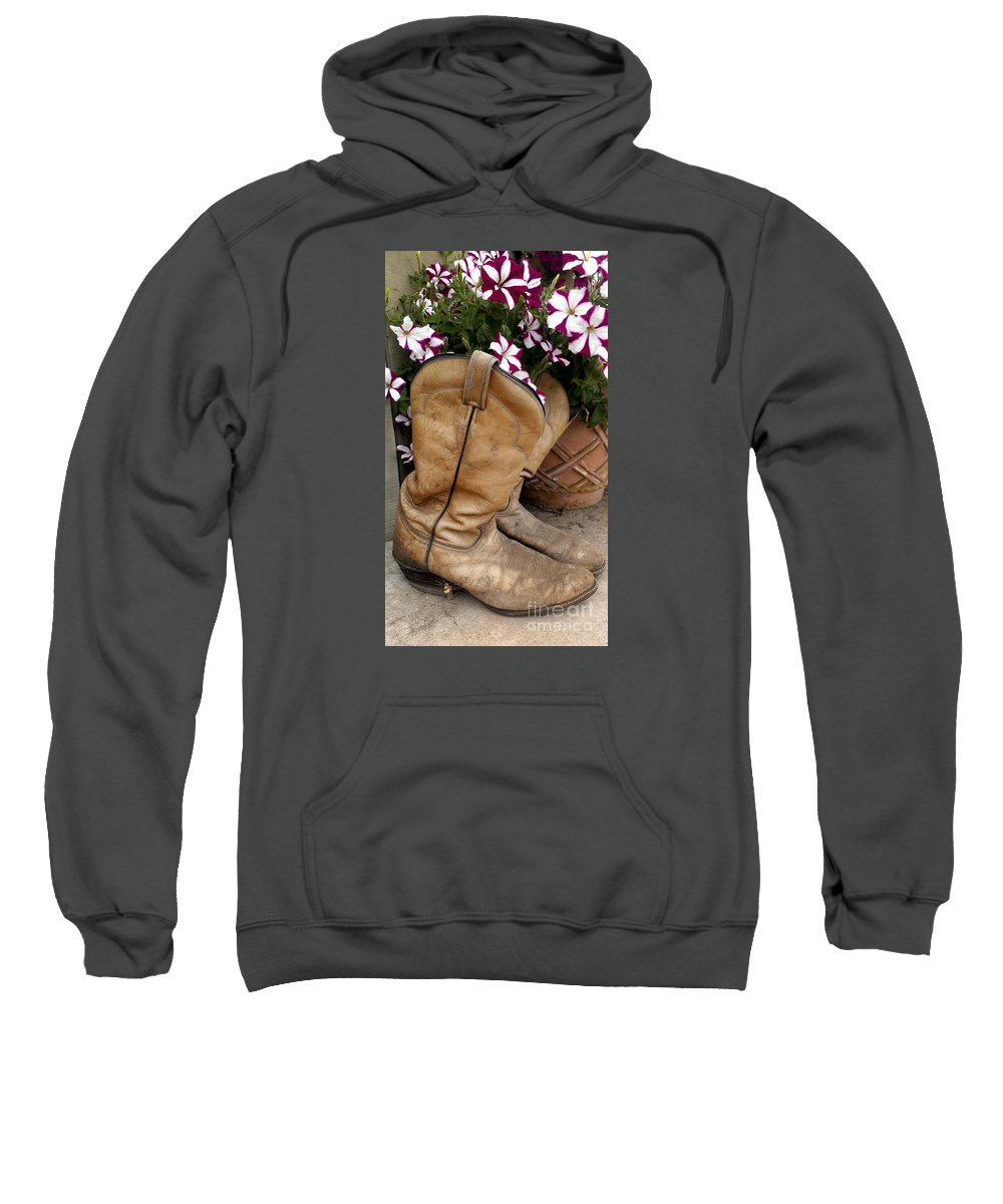 Boots Sweatshirt featuring the photograph Long Day by LKB Art and Photography