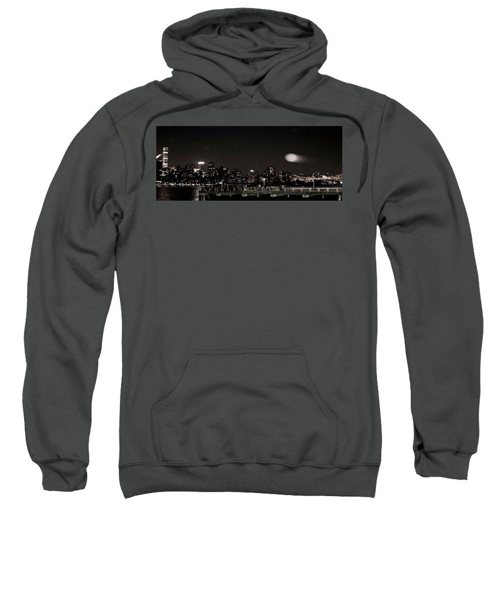 Night Sweatshirt featuring the photograph Long Island City, Ny. by Leonard Cascia