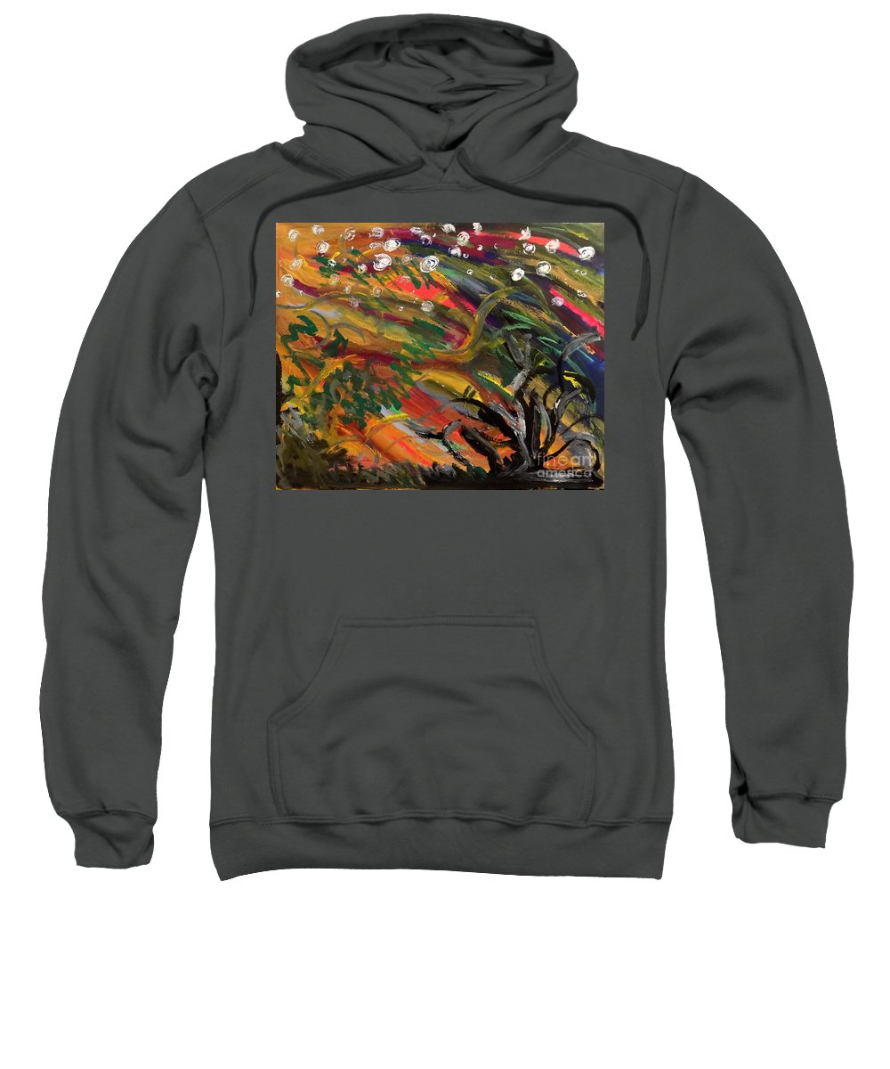 Abstract Sweatshirt featuring the painting Lonliness by Bryon Bewsher
