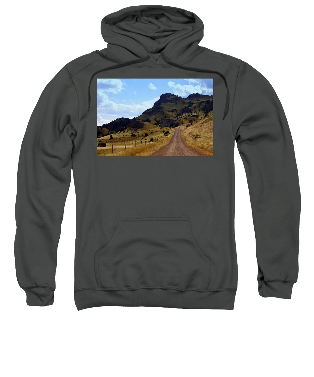 Tom Miner Rd. Sweatshirt featuring the photograph Lonly Road by Marty Koch