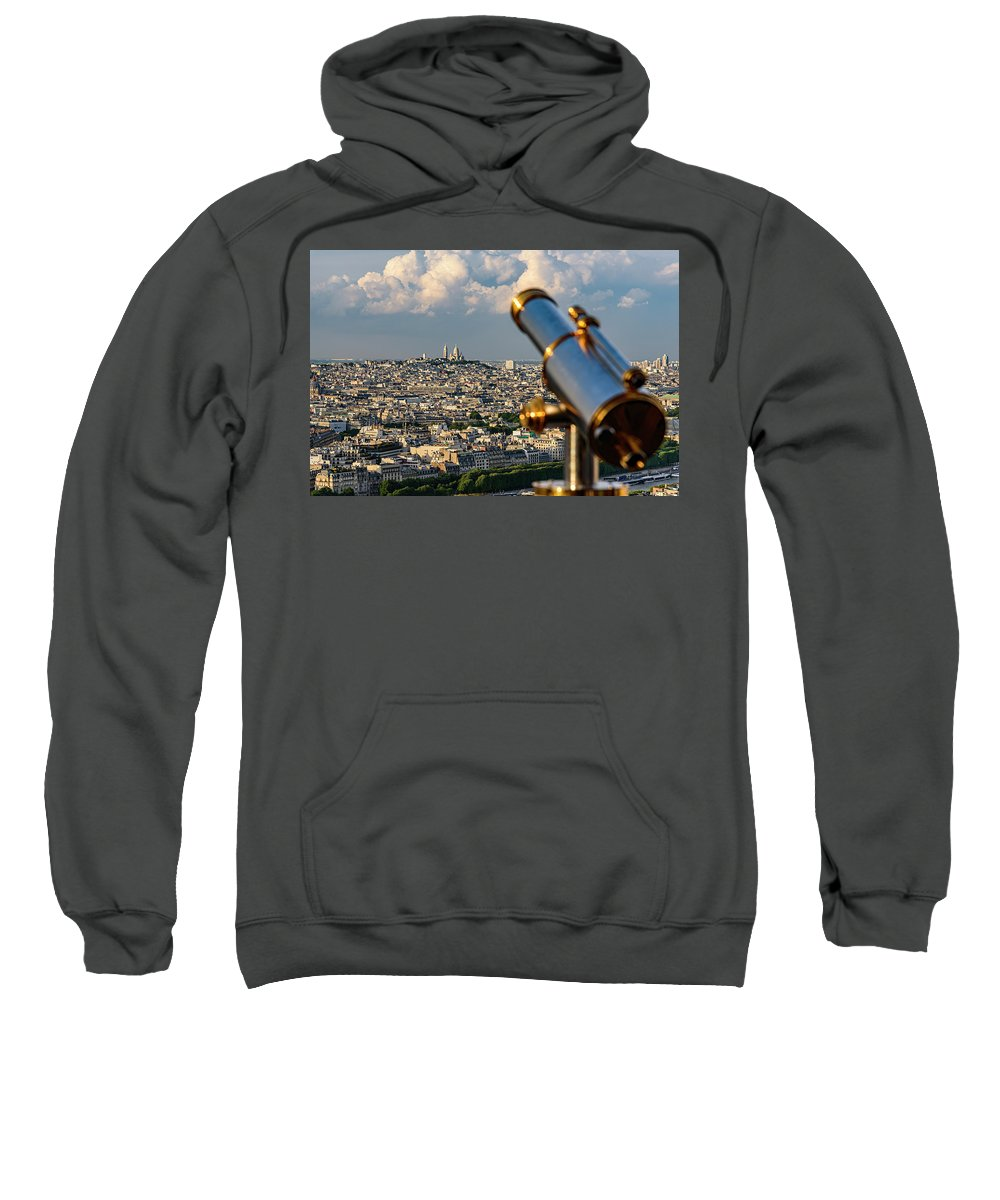 Eiffel Tower Sweatshirt featuring the photograph Looking At Sacre-coeur by Tim Meredith