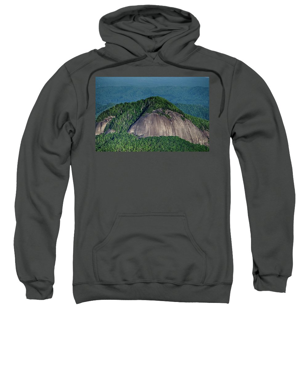 Rock Sweatshirt featuring the photograph Looking Glass Rock Mountain In North Carolina by Alex Grichenko