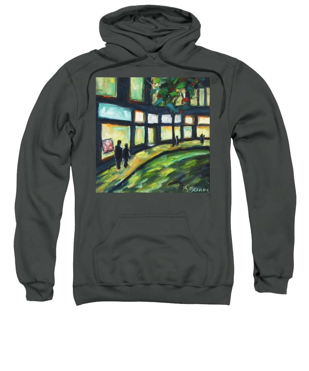 Town Sweatshirt featuring the painting Looking On by Richard T Pranke