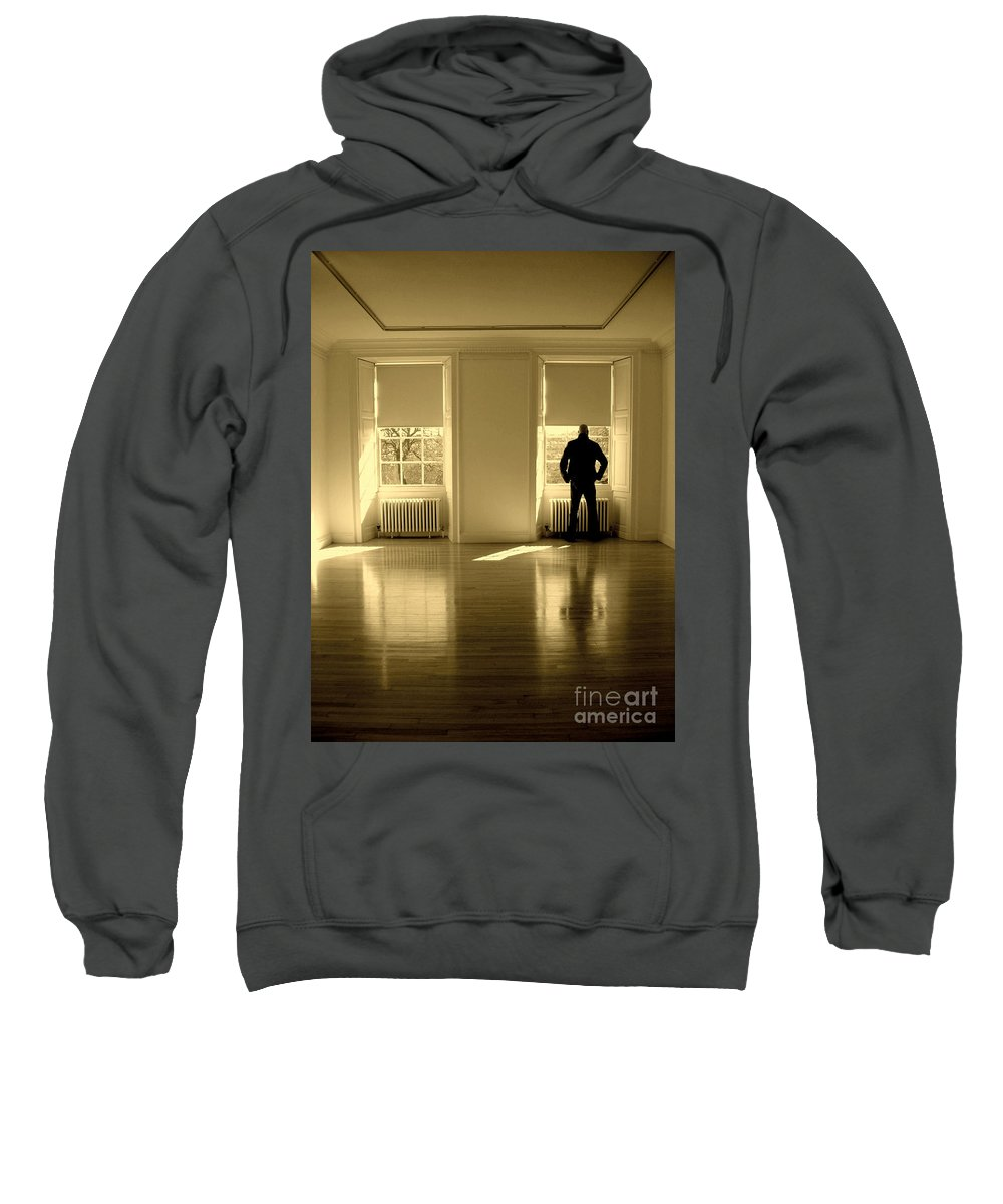 Man Sweatshirt featuring the photograph Looking Out by Caroline Peacock