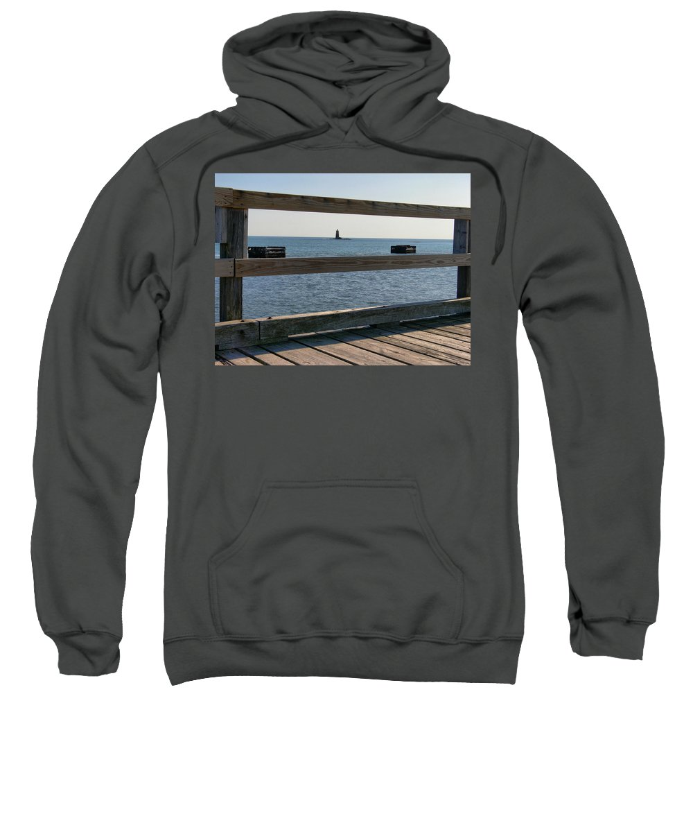 New England Lighthouse Sweatshirt featuring the photograph Looking Through by Nancie DeMellia