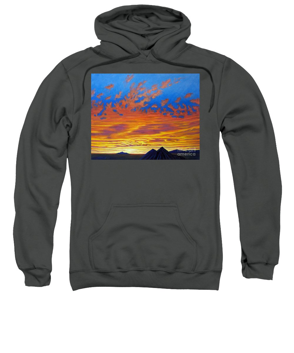 Landscape Sweatshirt featuring the painting Looking To The Southwest by Brian Commerford