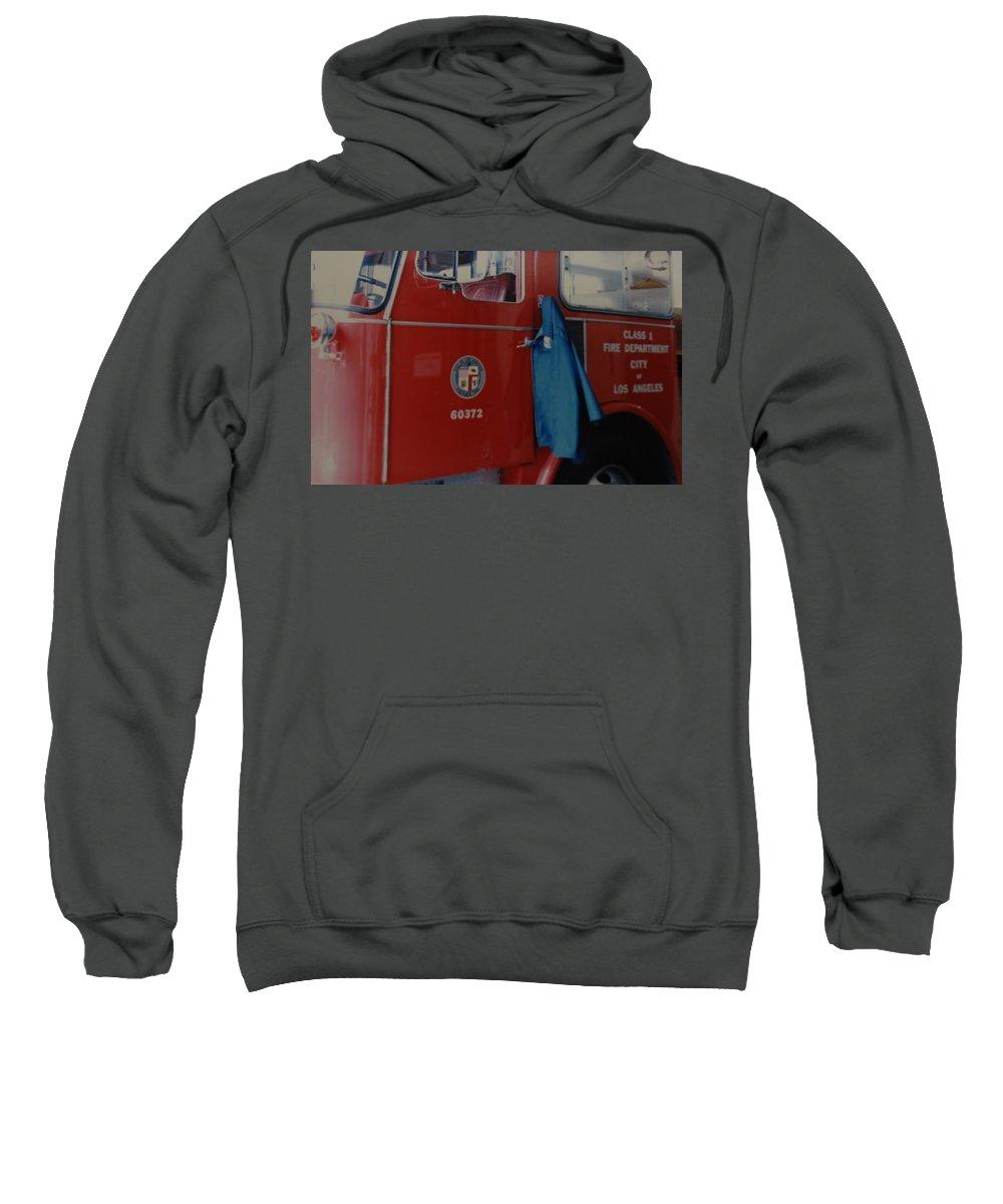 Los Angeles Fire Department Sweatshirt featuring the photograph Los Angeles Fire Department by Rob Hans