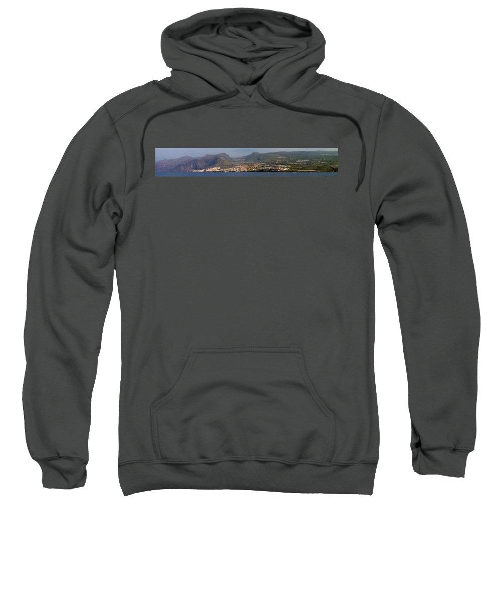 Valasretki Sweatshirt featuring the photograph Los Gigantes Panorama 1 by Jouko Lehto